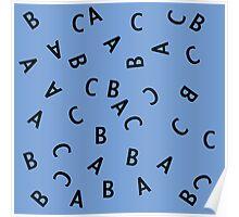 Alphabet ABC Letter Pattern Poster