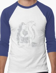 Silver Squirrel Men's Baseball ¾ T-Shirt