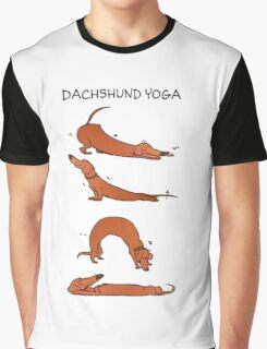 Dachshund Yoga Graphic T-Shirt