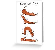 Dachshund Yoga Greeting Card