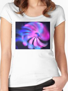 Pink Sea Blooms Women's Fitted Scoop T-Shirt