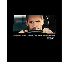 Paul Walker played Brian Photographic Print