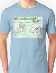 Sketching in the Game Reserve - Springbuck Unisex T-Shirt