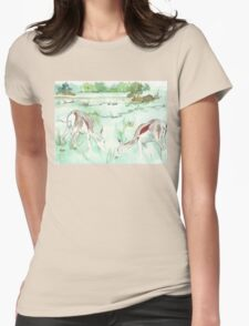 Sketching in the Game Reserve - Springbuck Womens Fitted T-Shirt