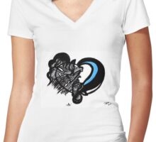 Tear Drop   Women's Fitted V-Neck T-Shirt