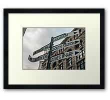 Getting Lost in Boston Framed Print