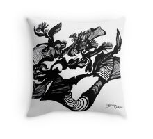 The Silhouette and the i (eye?) Throw Pillow