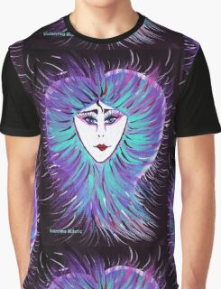 Snowflake - Woman Face Art by Valentina Miletic Graphic T-Shirt