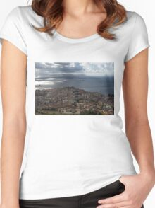 A Bird's-eye View of Naples, Italy Women's Fitted Scoop T-Shirt