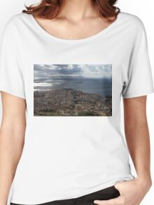 A Bird's-eye View of Naples, Italy Women's Relaxed Fit T-Shirt