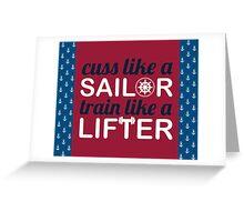 Sailor Lifter Greeting Card