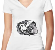 A Mother's Love Women's Fitted V-Neck T-Shirt