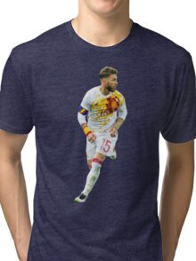 Sergio Ramos - Spain Render Tri-blend T-Shirt