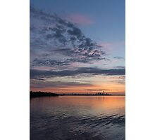 Toronto Skyline in Pastel Blue, Pink, Yellow, Orange and Purple Photographic Print