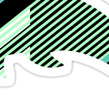 Abstract Striped Island Sticker