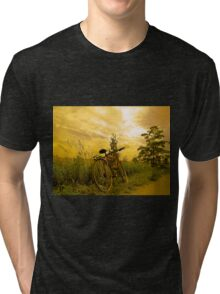 Biking at Sunset Tri-blend T-Shirt