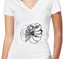 Heart Cycles  Women's Fitted V-Neck T-Shirt