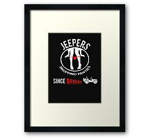 Funny Design For Jeep Lovers.! Framed Print