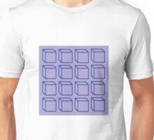 Geometric 3D Cube Design Unisex T-Shirt