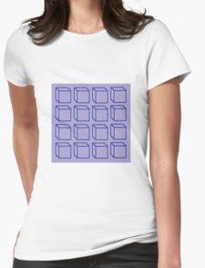 Geometric 3D Cube Design Womens Fitted T-Shirt
