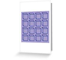 Geometric 3D Cube Design Greeting Card