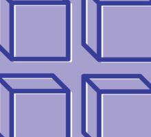 Geometric 3D Cube Design Sticker