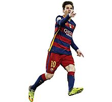 Messi - Pointing Photographic Print