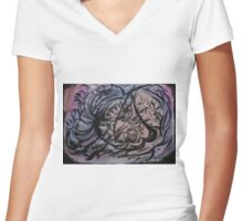 Day Dreaming Women's Fitted V-Neck T-Shirt