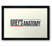 Greys Anatomy Framed Print