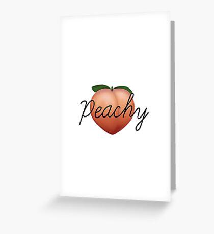 Peachy Peach Greeting Card
