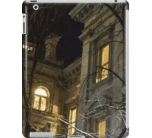 New York Night - Graceful Mansions Through the Naked Tree Branches iPad Case/Skin