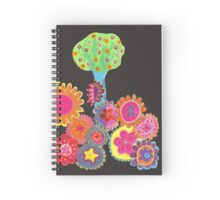 Blissful Garden Spiral Notebook