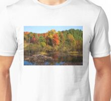 Autumn Beaver Pond Reflections Unisex T-Shirt