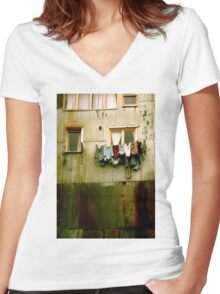 Out to Dry Women's Fitted V-Neck T-Shirt