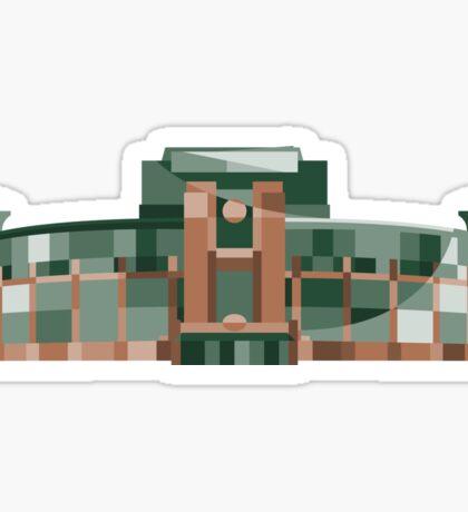 Green Bay Packers   Lambeau Field   Polygonal Illustration Sticker