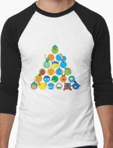 Pokemon Starter Pyramid Men's Baseball ¾ T-Shirt