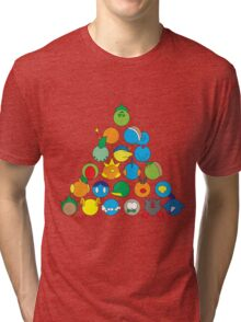 Pokemon Starter Pyramid Tri-blend T-Shirt