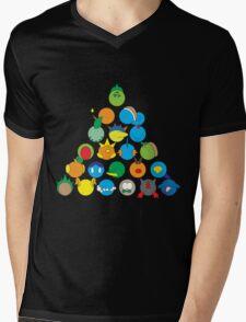 Pokemon Starter Pyramid Mens V-Neck T-Shirt