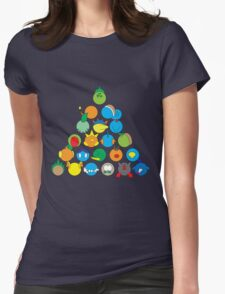 Pokemon Starter Pyramid Womens Fitted T-Shirt