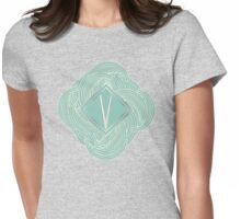 1920s Blue Deco Swing with Monogram letter V Womens Fitted T-Shirt