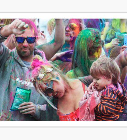HOLI Color Festival, Family Style! Sticker