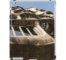 Freeform Rhythms in Stone, Iron and Glass - Antoni Gaudi's La Pedrera or Casa Mila in Barcelona, Spain iPad Case/Skin