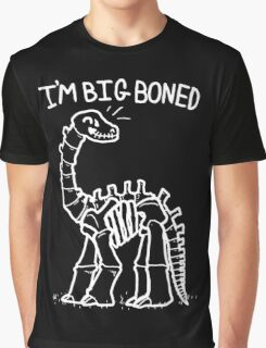 Big Skeleton Dino Graphic T-Shirt