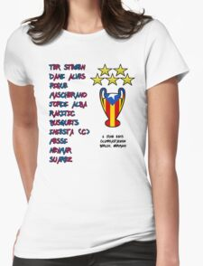 Barcelona 2015 Champions League Final Winners Womens Fitted T-Shirt