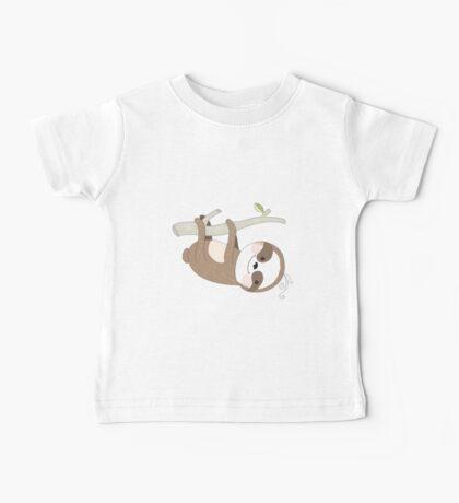 Cartoon Animals Just a Sloth Baby Tee