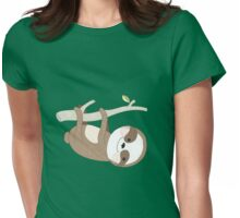 Cartoon Animals Just a Sloth Womens Fitted T-Shirt