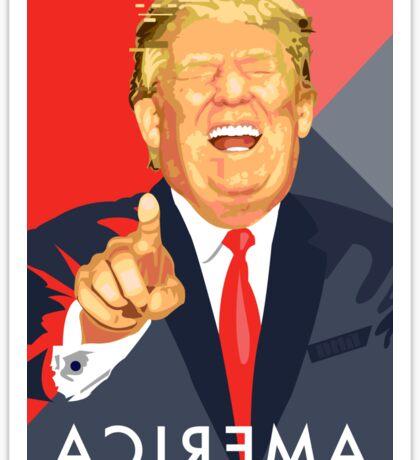 Trump Illustration  Sticker