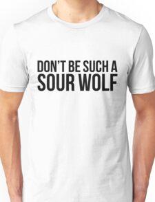 Sour Wolf - black text Unisex T-Shirt
