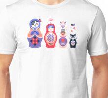 Russian Nesting Dolls – Pink & Lavender Unisex T-Shirt