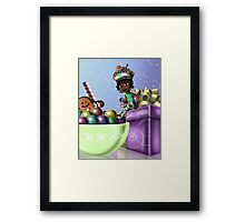 Sweet Christmas Candy Joy Framed Print